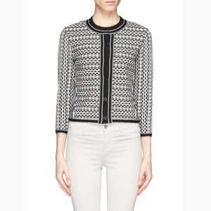 Tory Burch Monique Knitted Jacket Cardigan